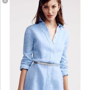 Ann Taylor Linen Button Down Dress